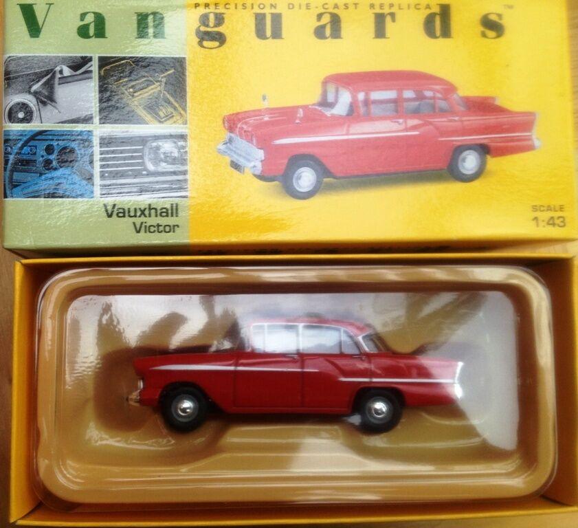 LLEDO VANGUARDS VA38000 Vauxhall Victor diecast model car Gypsy red body 1 43rd