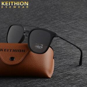 KEITHION-TR90-Slim-Fit-Sunglasses-Mens-Womens-Polarized-Retro-UV400-Glasses