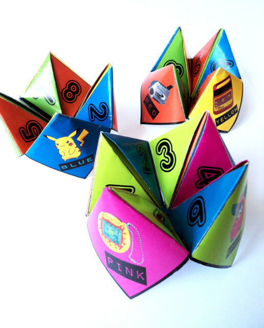 90s Party Table Decorations - 10 Paper Click Clacks - Ready to Make