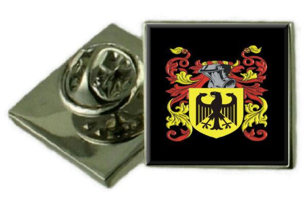 2019 Neuer Stil Bushell England Familie Wappen Revers Pin Abzeichen Graviert Geschenk Hülle Um Jeden Preis