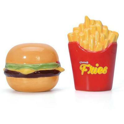 Burger & Fries Salt & Pepper Shakers