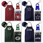 NFL Licensed Apron Hat Set + Keychain / BARBECUE TAILGATING GEAR