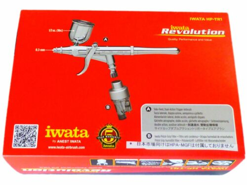 ANEST IWATA Revolution HP-TR1 Airbrush Dual Action Trigger Side Feed 0.3 mm NEW