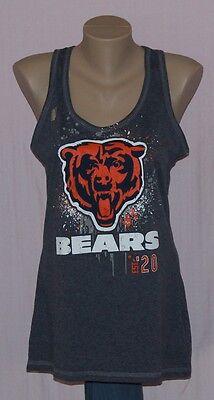 Womens Chicago Bears Racerback Tank Top T-Shirt LRG
