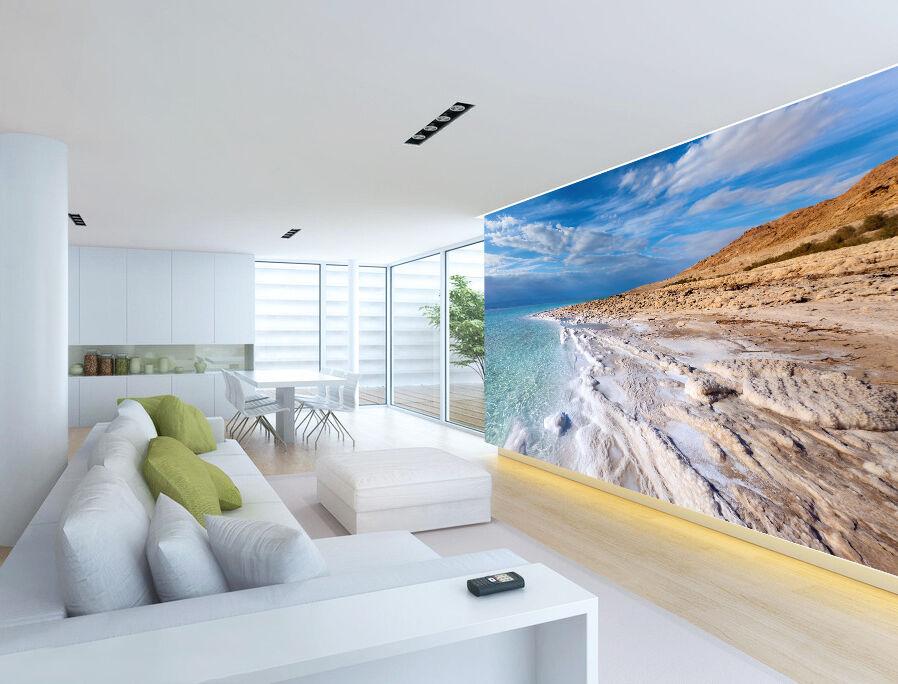 3D Blau Sky Ocean Beach Wall Paper wall Print Decal Wall Deco Indoor wall Mural
