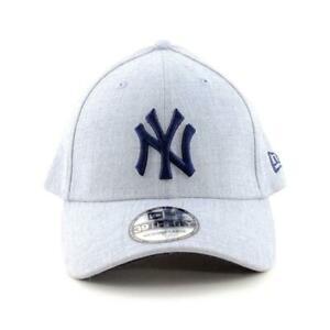 New-York-Yankees-New-Era-Cap-MLB-39Thirty-Curved-Brim-Hat-In-Heather-Grey-Gym