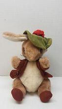 "Vintage Benjamin Bunny Plush Eden Beatrix Potter Peter Rabbit Stuffed Animal 11"""