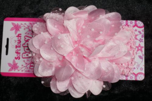 Haarband Stirnband Haarschmuck Baby Kopfband Taufe Feier Blume Punkte