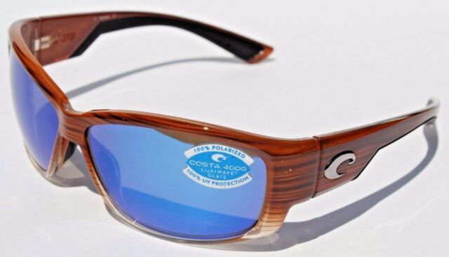 5278c50cb52de Costa Del Mar Luke LK 81 Wood Fade Rectangular Sunglasses Blue 400g ...