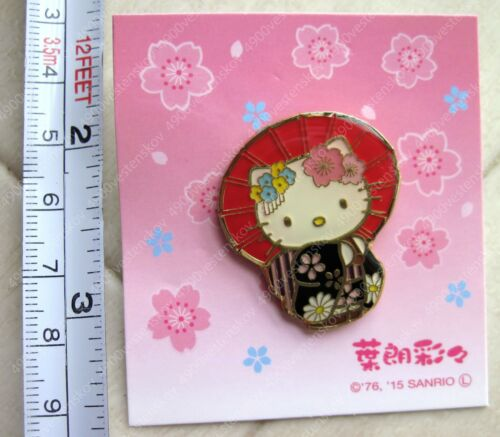 PICK 1pc Rare Sale in Japan only Japanese Kimono Sakura Maiko Hello Kitty Pin