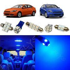 6x Blue LED lights interior package kit for 2013-2016 Dodge Dart DD2B