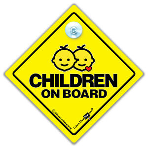 BABY on board car window sign fun sign caterpillar safety sign