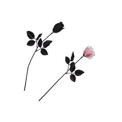 Audace Halloween Sposa Nero O Bianco Bloody Rose Horror Party Accessorio Vestito Moderno Ed Elegante Nella Moda