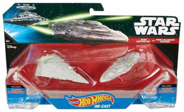 Fornitura Star Wars Hot Wheels Star Destroyer Vs Mon Calamari Cruiser Playset