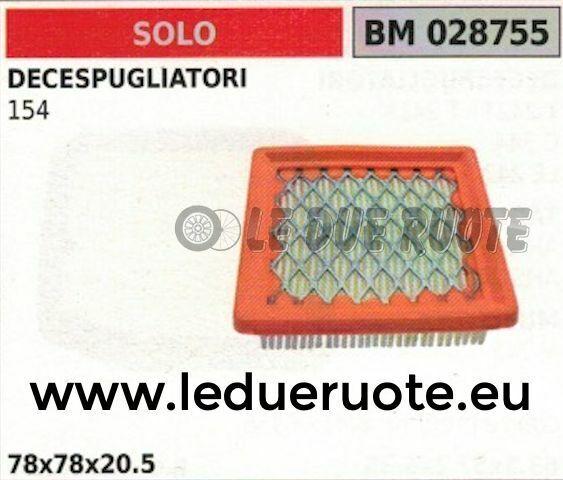 Filtro de Aire Completo Cortador de Cepillo Solo 154 78x78x20.5