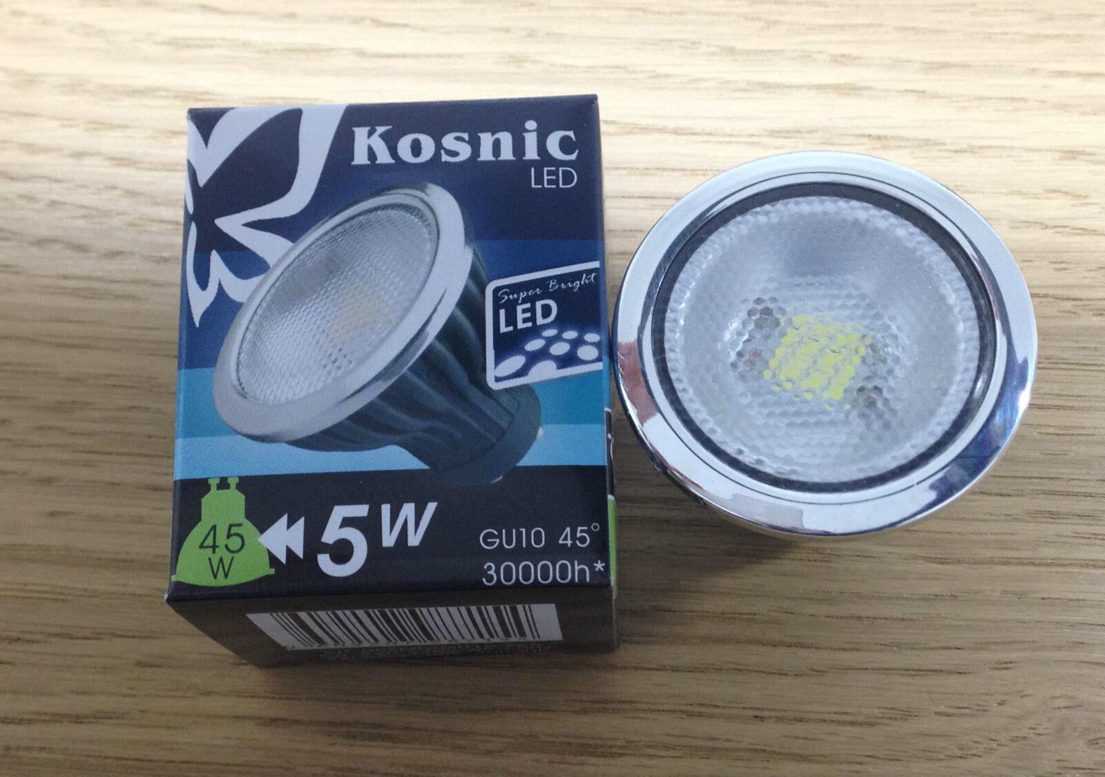 5W KOSNIC GU10 SMD LED - DAYLIGHT 6500K  COOL Weiß 4000K  WARM Weiß 3000K