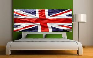 Adesivo testata del letto decorazione da muro bandiera inglese 3689