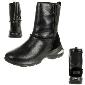 Details zu Skechers D´ Lite Ultra Temp Women's Boots Winter Shoes Padded BBK