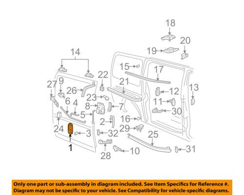 GM OEM Side Sliding Door-Handle Outside Exterior 25942270