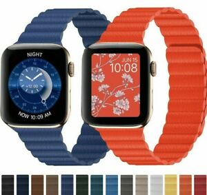 Milanese-Leather-Strap-For-Apple-Watch-6-5-4-iWatch-Band-Magnetic-Loop-Bracelet