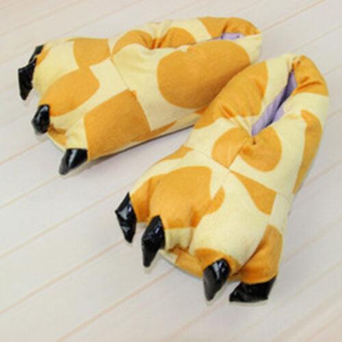 ErwachseneKinder Tier Füße Hausschuhe Klaue Dinosaurier Pfote Plüsch Innenschuhe