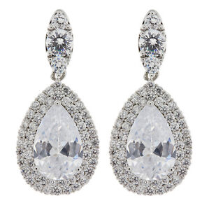 Image Is Loading Clip On Earrings Silver Plated Luxury Earring With
