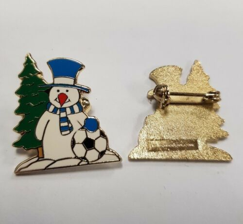 Snowman Cardiff Chelsea B/'Ham City Blue /& White Collectors Enamel Pin Badge NEW