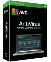 Avg Antivirus 2016 3-pc - 1 Year. Retail Box. Free 2017 Upgrade