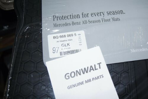 Mercedes Benz Genuine Black All Season Floor Mats GLK class 6680695