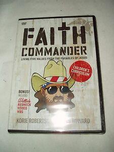 Faith-Commander-Children-039-s-Curriculum-VBS-DVD-New-In-Package-w-Korie-Robertson