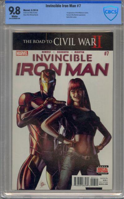 INVINCIBLE IRON MAN #7 CBCS 9.8 1ST RIRI WILLIAMS NOT CGC