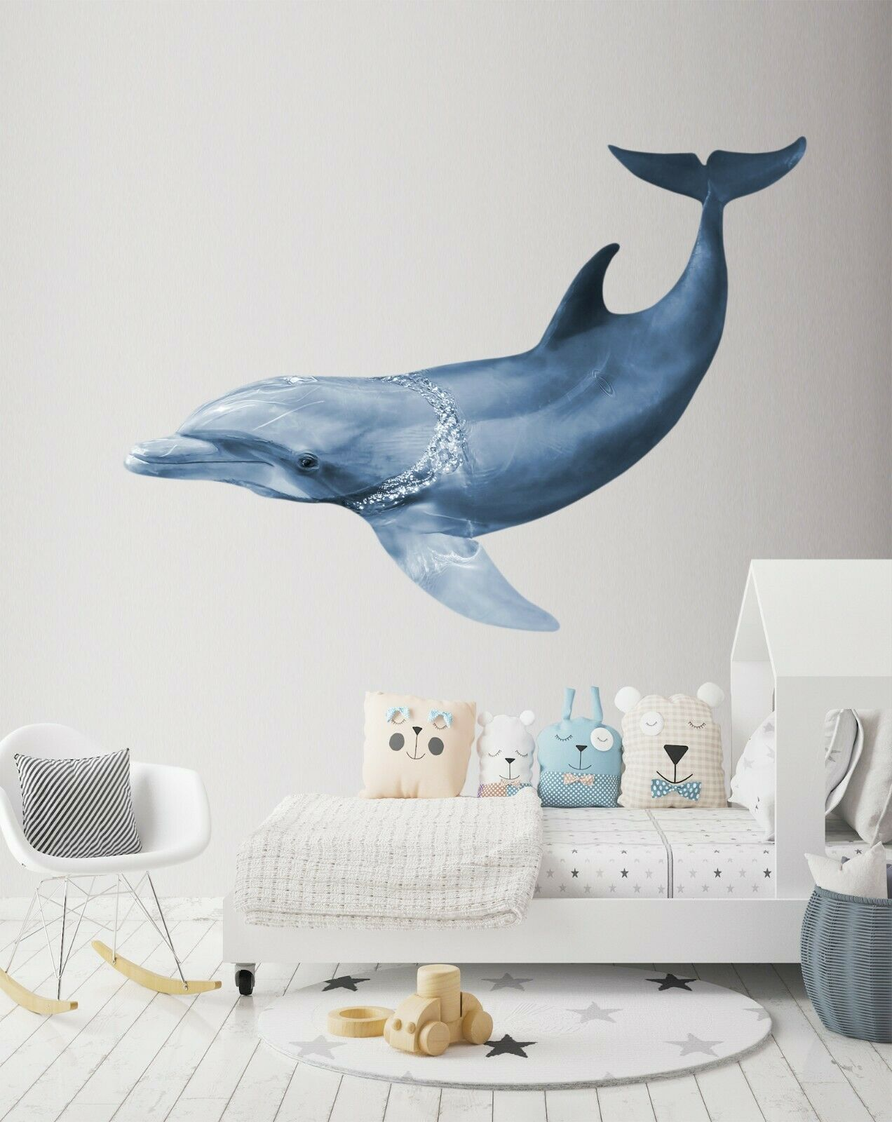 3D Dolphin Tour P49 Animal Wallpaper Mural Self-adhesive Removable Zoe