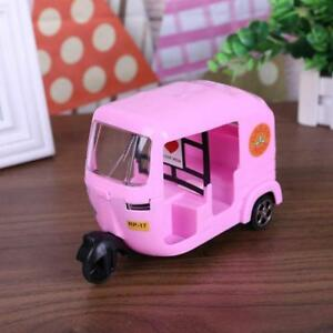 Pink Small Tricycle Toy Doll House Accessories Model Children Car