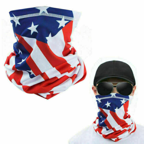 American Flag Balaclava Face Cover Gaiter Neck Biker Bandana Outdoor Sport