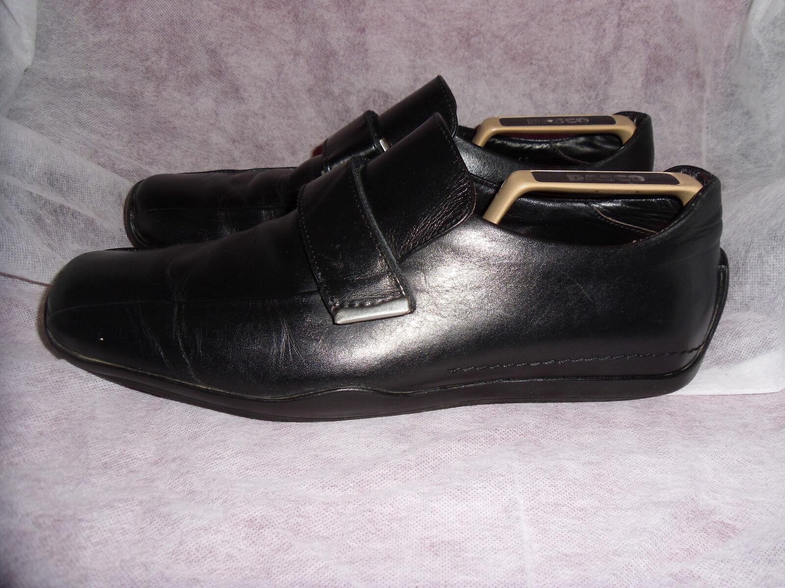 Russell & Bromley Uomo Nero Pelle Velcro Scarpa/Scarpe da ginnastica. Taglia EU 41 in buonissima condizione