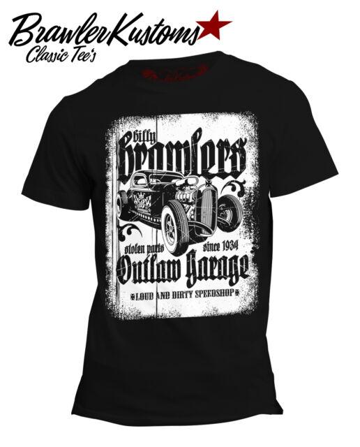 Vintage Hot Rod, Rockabilly T Shirt, Billy Brawler, RockabillyShirt, Biker Shirt