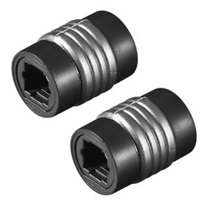 2-x-TOSLINK-optischer-ADAPTER-VERBINDER-Buchse-auf-Buchse-Lichtwellenleiter