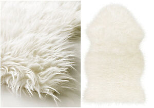 Image Is Loading Ikea Faux Sheepskin Rug 40x24 034 White Armchair