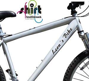 Fahrrad Aufkleber Name