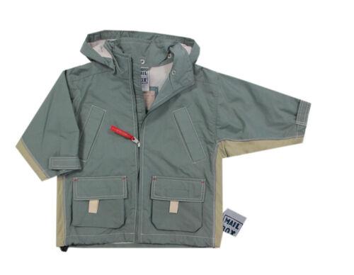 92,104 Mail BOX BY KANZ giacca transizione giacca giubbino estivo CAPPUCCIO VERDE RAGAZZO TG