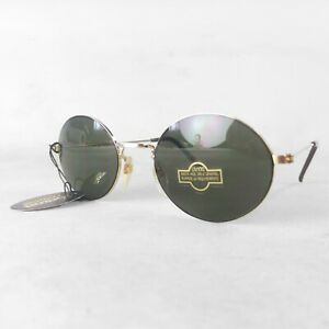 Vintage-Saxon-Quality-Eyewear-sunglasses-UV100-gilded-frame-New-Old-Stock-80s