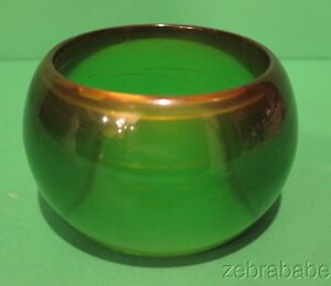 Vintage Two Tone Green Lucite Bangle Bracelet Jewelry