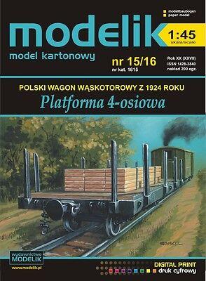 Modelik 15/16 Flat Wagon 4-achsig Von 1924 1:45 Yet Not Vulgar Schmalspur
