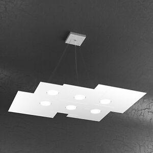 Lampadario A Sospensione Led 6x9 Watt Illuminazione Interni Design
