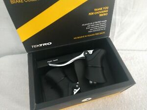 Tektro-RL340-Road-Bicycle-Aero-Brake-Levers-pair-2000mm-cables-silver