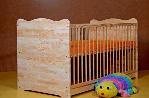 Babyzimmer Komplett Set Babybett Gitterbett Schrank Kommode 5 Farben MASSIVHOLZ