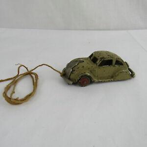 Antique-Die-Cast-Toy-Car-Frame-Nickel-Chasis-HUBLEY-Car-Parts-Restoration