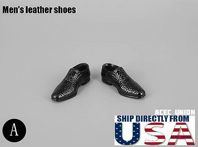 "1//6 Men Shoes Evening Dress Shoes BLACK For 12/"" Hot Toys Phicen U.S.A SELLER"