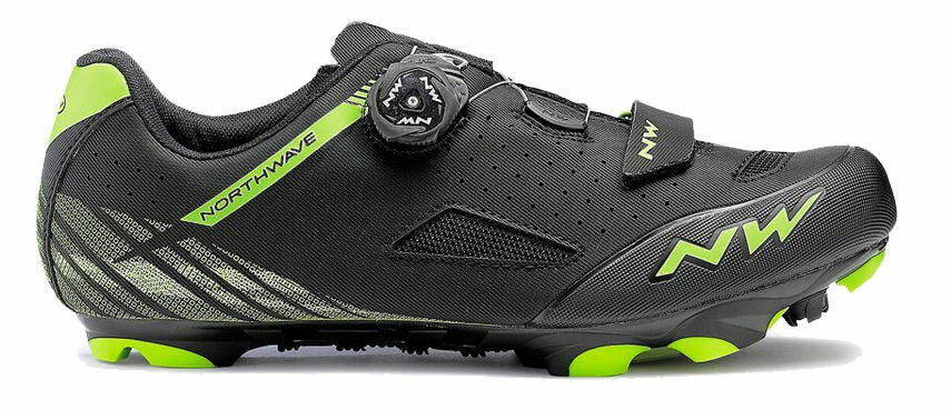 zapatos Ciclismo MTB - NORTHWAVE ORIGIN PLUS - Misura 43 - Color negro verde