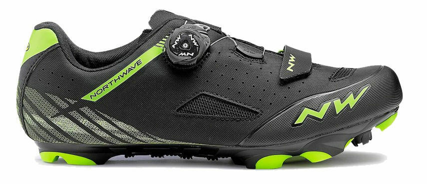 zapatos Ciclismo MTB - NORTHWAVE ORIGIN PLUS - Misura 45 - Color negro verde
